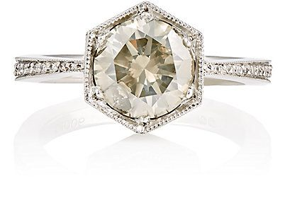 Cathy Waterman Grey Diamond Ring - Jewelry - 504500793 @michaelOXOXO @JonXOXOXO @emmaruthXOXO @emmammerrick  #CATHYWATERMAN