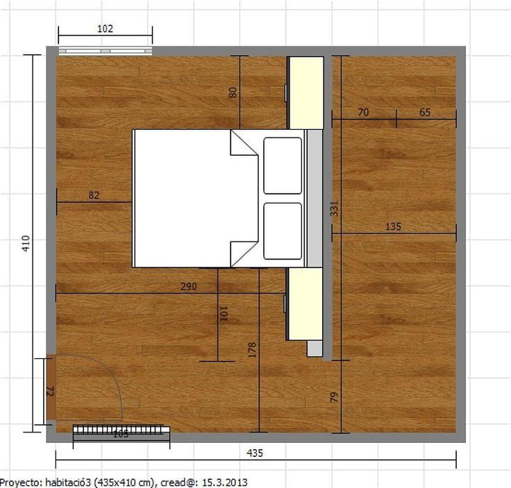 Baños Con Vestidor Planos:Vestidor plano