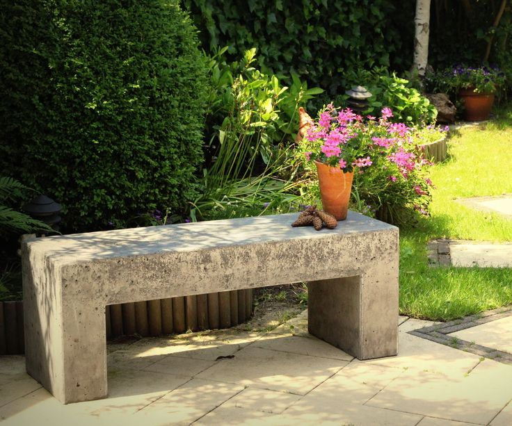 Best 25 Concrete Garden Bench Ideas On Pinterest Patio Garden Ideas For Apartment Decorative