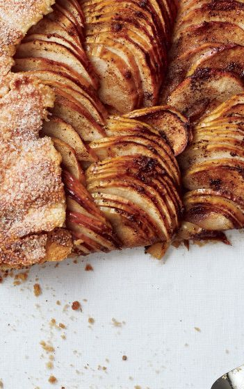 Salted-Brown Butter and Apple Galette recipe: Afraid of rolling out pie crust? This no-fail dessert is the answer to your dessert prayers.