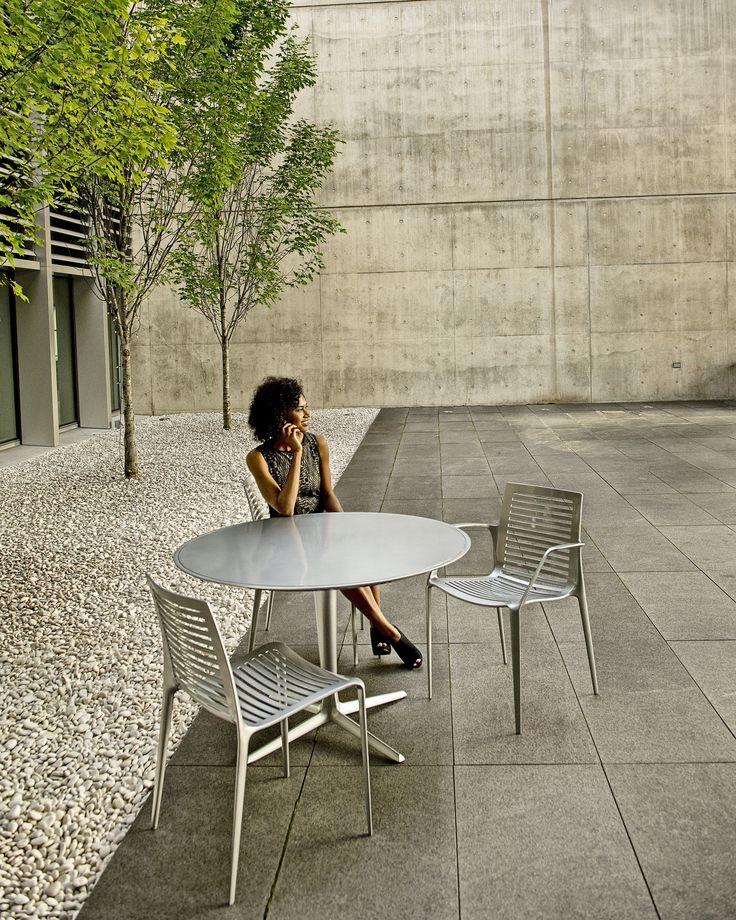Chipman table and chair at gram in grand rapids for Outdoor furniture grand rapids