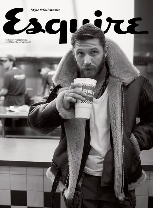 beardbrand:  Tom Hard rocking a mean beard on the cover of Esquire.