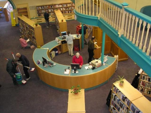aerial view of circulation desk library designlibrary - Library Circulation Desk Design