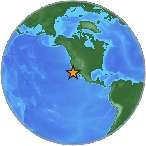 A Magnitude 6.3  earthquake occurred today Dec. 14, 2012 at 2:36AM local time (5:36 AM EST) and about 263km SSW of Avalon, California. There is no tsunami expected near the west coast of Baja California. The quake was at depth 11.3km or7.0mi.