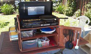 camper keuken Vezelplaat Camp Box lichtgewicht