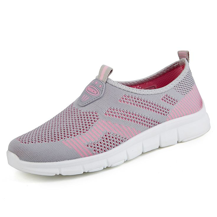 2017 New Walking Sneakers Women Luxury Jogging Walking Shoes Slip On Sport Trainers Summer Breathable Ladies Gym Shoes Cheap #Affiliate