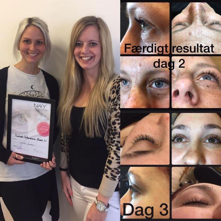 Endnu en elev som har lavet smukke øjenvipper på vores eyelash kursus, du kan tilmelde dig vores eyelash kursus her tlf. 70223366 eller mail til gitte@nail4you.dk Prisen er 3599,-