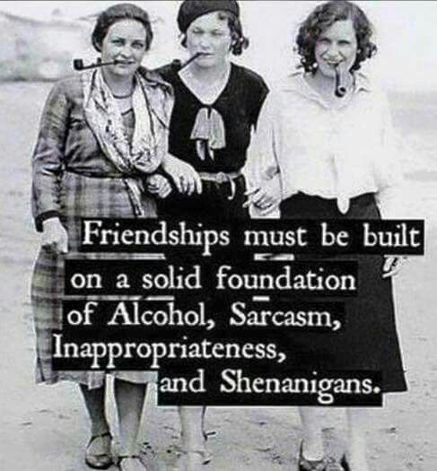 One day we'll be able to let go enough to advance our friendship to this level by involving the wine we've stocked up on ;) @ericaawesomus @daniellep2240