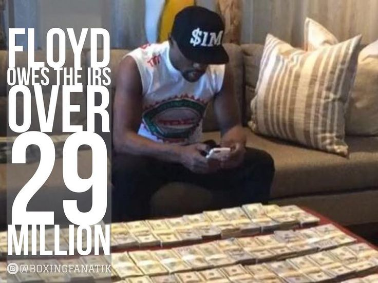 "The IRS claims that Floyd Mayweather Jr. still owes $22.2 million in taxes from 2015.  2015 is the year in which Mayweather earned his biggest payday by fighting Manny Pacquiao.  A fight in which Floyd Mayweather has claimed to have made over $250 million dollars from.  Now BoxingScene.com is reporting that the IRS also has a lien against Floyd Mayweather for $7.2 million for the tax year of 2010.  That's the year Floyd Mayweather fought ""Sugar"" Shane Mosley.  Combined, that's a total of…"