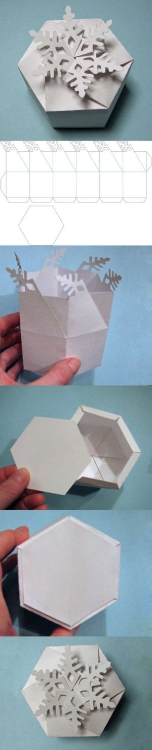 Diyforever DIY Snowflake Hediye Kutusu DIY Kar Tanesi Hediye Kutusu