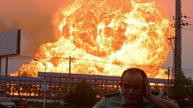 More than 50 people are dead and hundreds injured after two large explosions hit Tianjin, China on Wednesday 12th August 2015. Many people caught the explosions on camera which are currently being uploaded on to YouTube and shared all over Facebook, Twitter and the like.