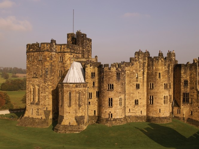 Alnwick Castle - inspired Hogwarts and where they filmed some of HP. I must visit someday!