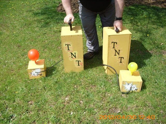 Homemade Carnival Games | Kids Backyard Carnival Games- guess how many pumps it takes to bust ...