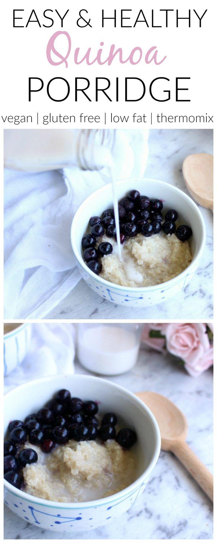 Easy healthy quinoa porridge | Thermomix and conventional method