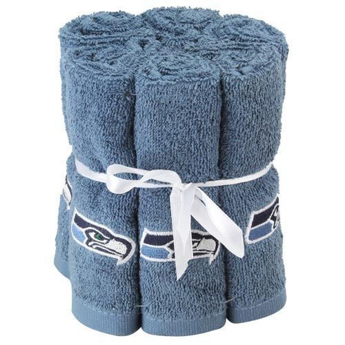 6 pack nfl football seattle seahawks washcloth hand towel nflhttp