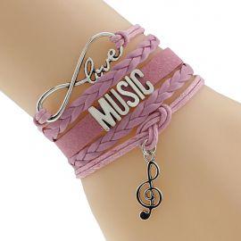 Sunshine vintage music infinity bracelets bangles fashion for women