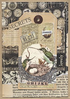 Collage  birds {front of card but I like the idea for art}