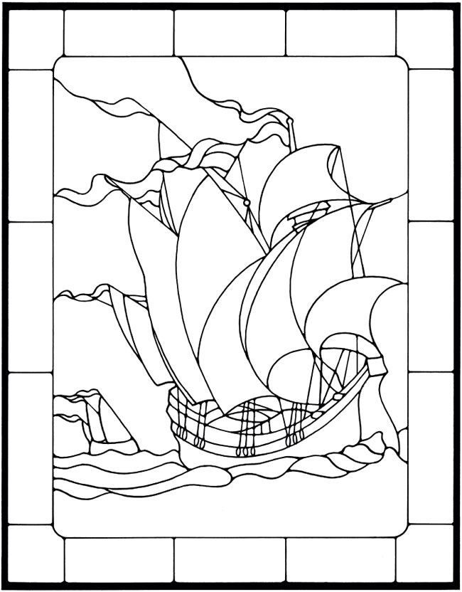 58 best Stained Glass- Sailing Ships images on Pinterest
