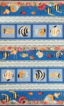 The Sonesta collection is made of soft polyester that is hand hooked with beautiful colors and designs. These novelty rugs are great for any theme-style room and would be a nice addition to any kids room or casual living area.