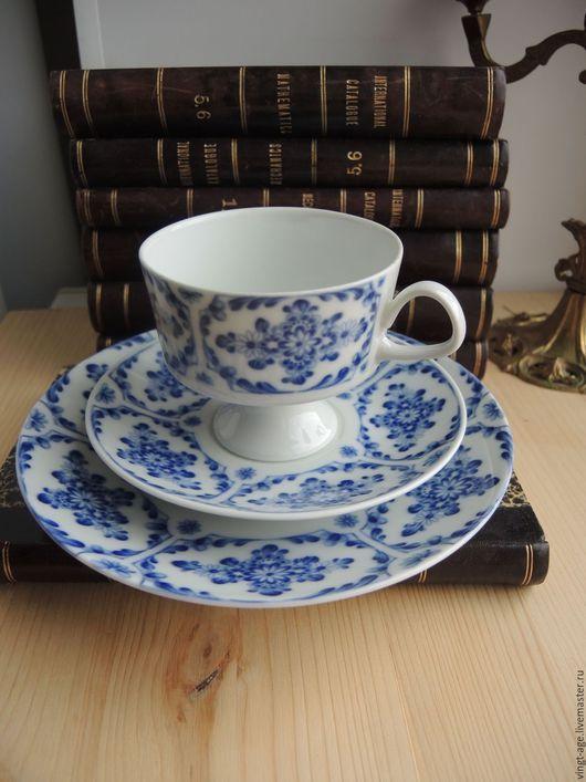 Винтажная посуда. Чайная тройка Fine China Lichte Германия. Vingt-Age                    (Юлия). Интернет-магазин Ярмарка Мастеров. германия