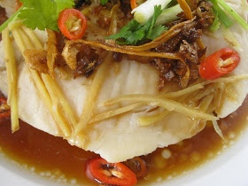 My Asian Kitchen: Steamed Tilapia with Ginger,Shallot,Sake and Soy Sauce