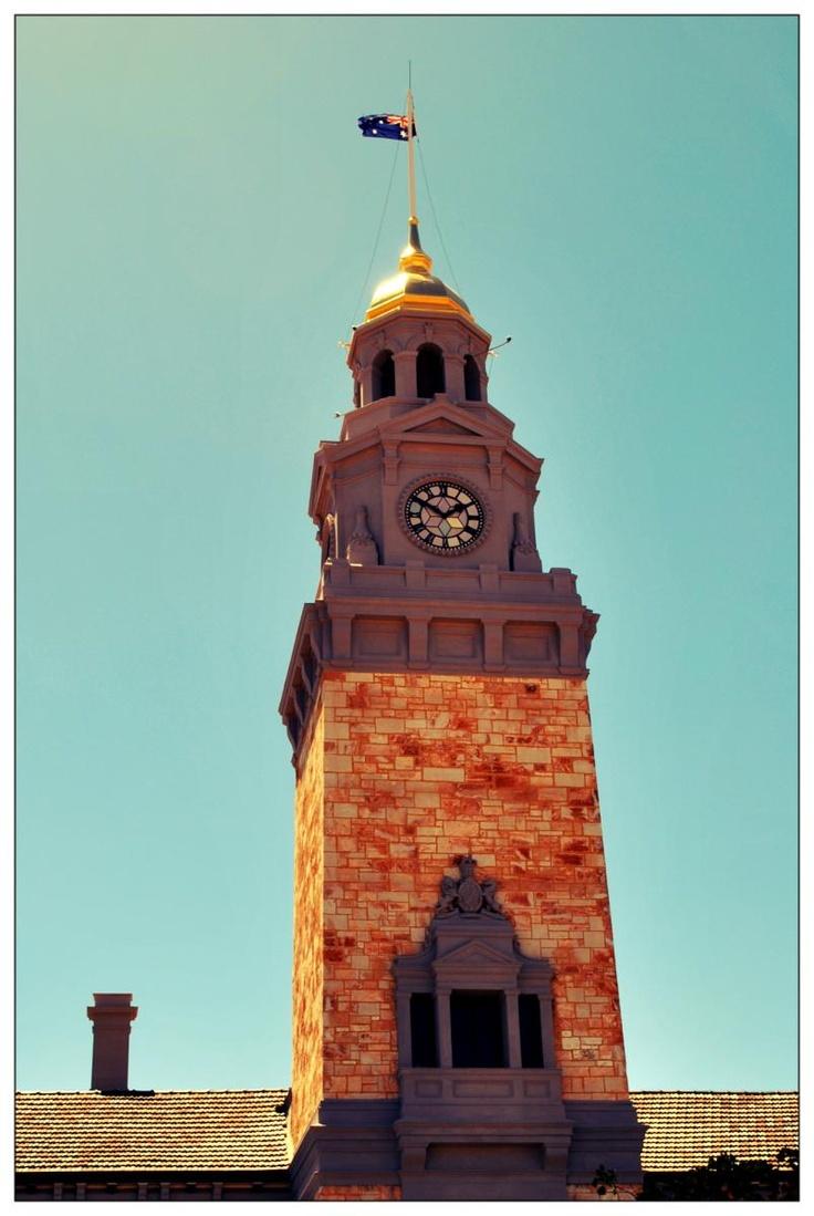 REAL Gold Dome on top of the old Kalgoorlie Court House. Hannan Street, Kalgoorlie Boulder
