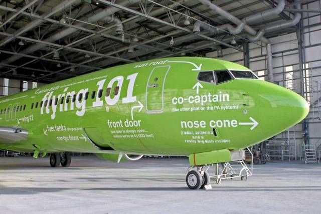 Kulula airlines: Illustrating different sections of the plane.