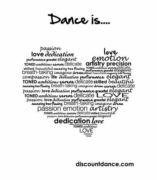 An original graphic created by the Discount Dance Art Department in honor of what we love: DANCE