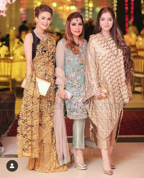 Zarpash with her mom & sister in law | bridal & groom's Family