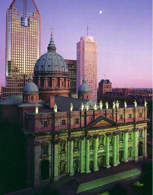 Cathédrale Marie Reine du Monde, #Montreal -- modelled after St. Peter's Basilica in Vatican.