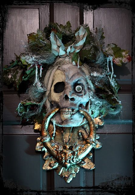 Ghost of Jacob Marley Door Knocker!  There are not enough hearts to indicate how very much I love this!!!