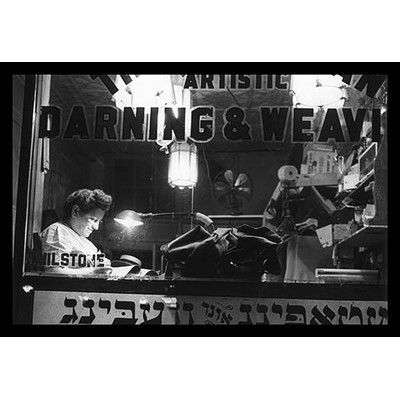 Buyenlarge 'Jewish Weaving Shop on Broom Street' by Marjorie Collins Framed Photographic Print