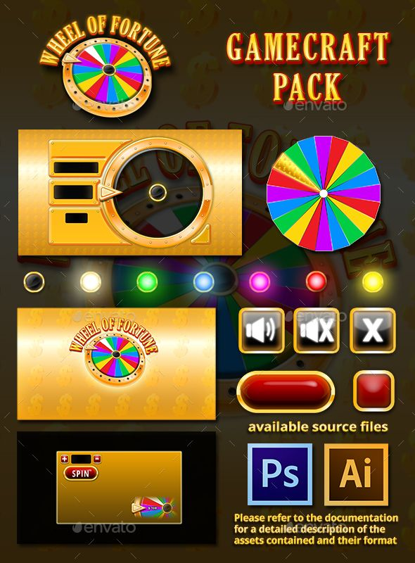 Wheel of Fortune Game Assets (Game Assets)