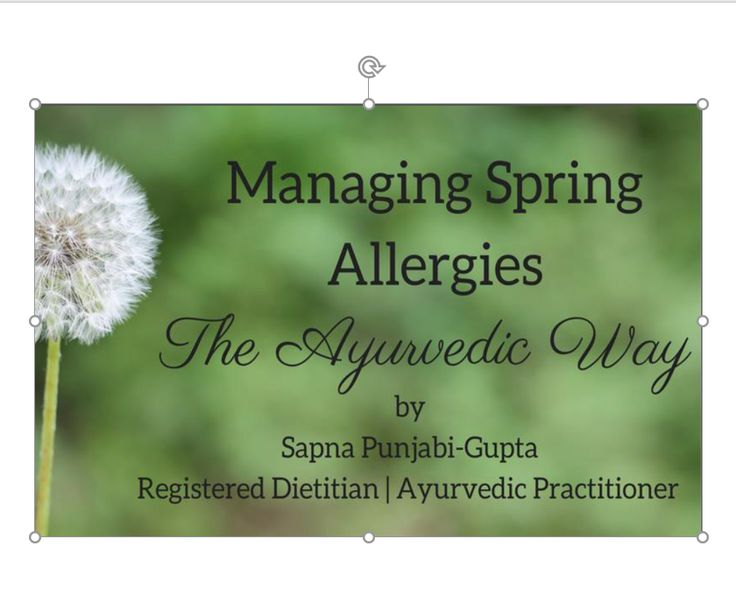Welcome Spring time and Hello allergy season!! Spring is the season to recharge and renew ourselves… but for many people it is also a dreadful time due to seasonal allergies, itchy eyes, sore throat, runny nose! Join Sapna for an interactive webinar to discover the root cause of seasonal springtime allergies from an ayurvedic and western evidence perspective. ✓ Learn the role of our gut health and digestive fire (Agni) in relation to allergies ✓ Practical ayurvedic tips for symptom…