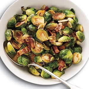 Brussels Sprouts Recipes | Brussels Sprouts with Bacon, Garlic, and Shallots | CookingLight.com