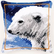 Polar Bear - Vervaco Large Holed Tapestry Cushion Kit - PN-0145508