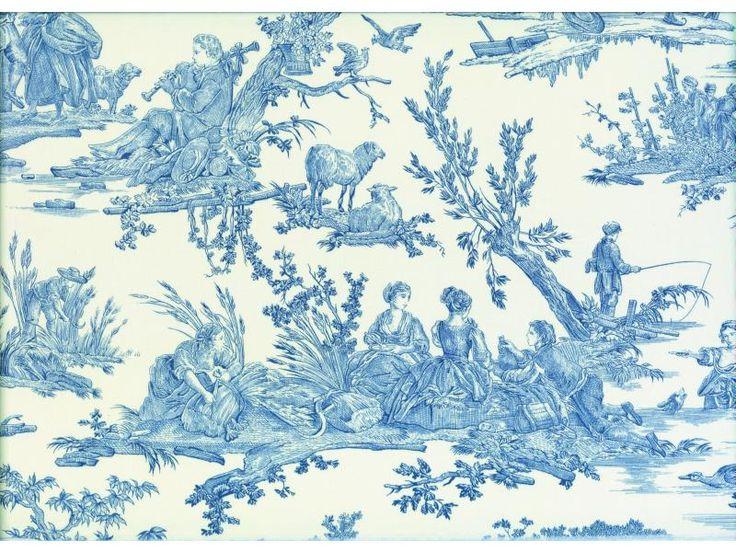 1000 images about toile de jouy on pinterest toile de - Papel pintado toile de jouy ...