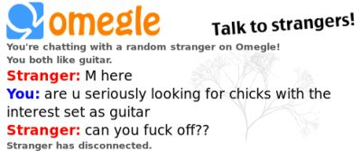 This Omegle conversation I had