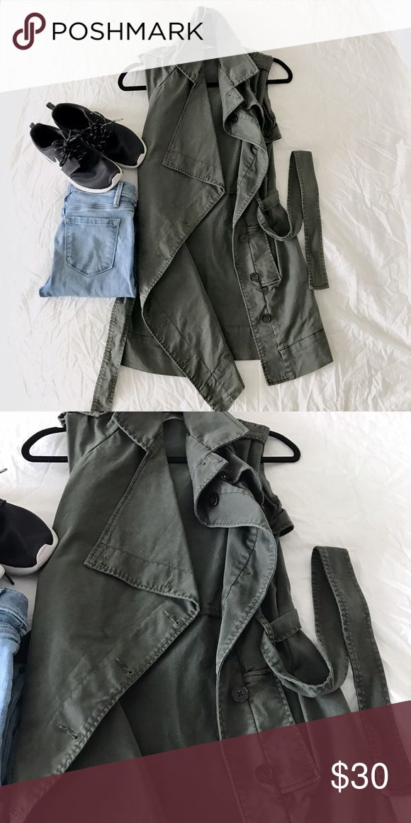 Waterfall Trench Vest Really unique construction. Thick, premium twill material. refuge Jackets & Coats Trench Coats