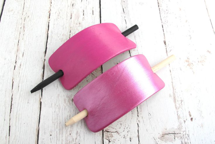 BREAST CANCER, AWARENESS, Pink Leather Hair Clip, Pink Breast Cancer Barrette, Breast Cancer Month, Pink Leather Hair Accessories - pinned by pin4etsy.com