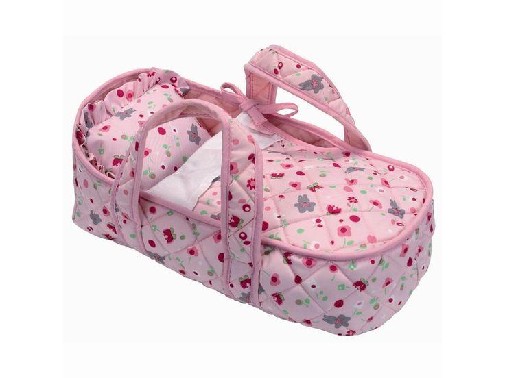 Bærebag i fint mønstret stoff. 30x19x17 cm. Passer perfekt til Calin eller Tidoo Dukkene fra Corolle, eller andre dukker på opp til 30 cm.  For barn på ca 18 mnd og oppover.