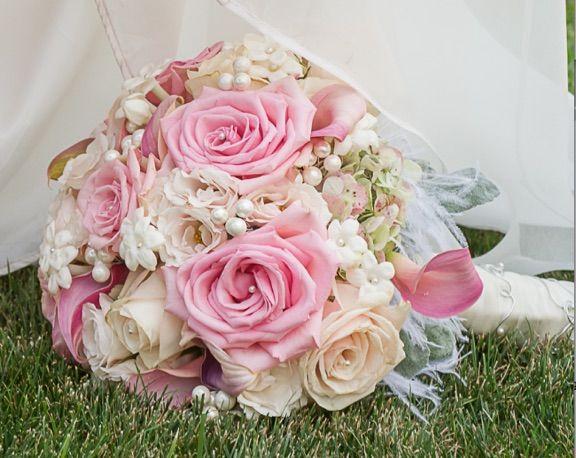 Romantic soft pinks bouquet.