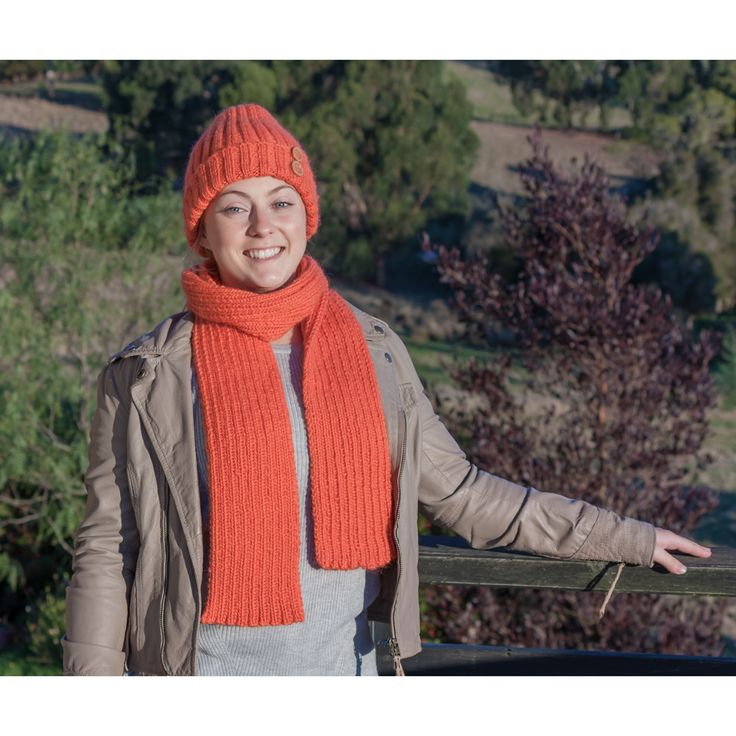 Knit your own ribbed scarf and beanie set featuring decorative buttons using this new kit from Knitting Kits Australia. Find more knitting kits in-store now.