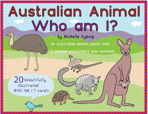 Australian Animals This is a great card game for children who are learning about Australian animals. I have used this many times in various primary-aged ESL classes and the children find it very engaging. To use, simply print the five A4 pages, laminate and cut out to produce twenty Australian animals cards. The information contained on the cards teaches about whether the Australian animals have fur, feathers or scales, where they live and what they eat. The game is designed to be playe...