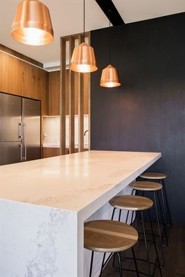 Kitchen Caesarstone Statuario Maximus PLY / ARCHITECTURE