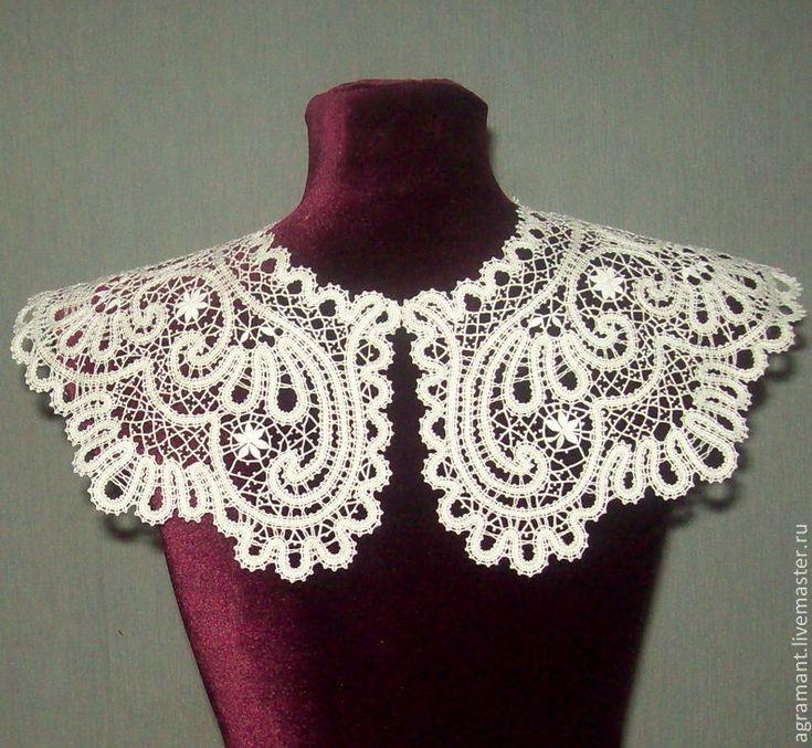 Купить Оплечье-отделка Вологодское кружево - накидка, ажурная накидка, свадебная накидка, накидка на плечи