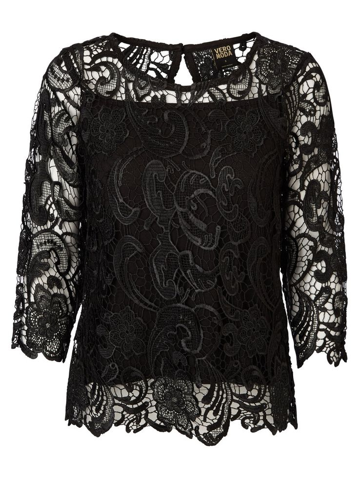 Black lace top from VERO MODA. This is such a feminine and delicate party top - we love it.