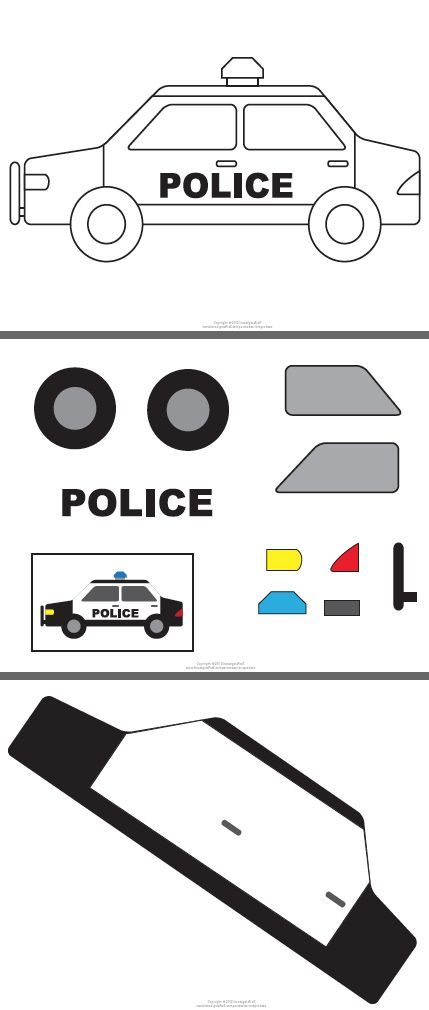 police car template - Google Search