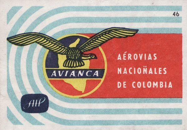 vintage latin american airlines matchboxes