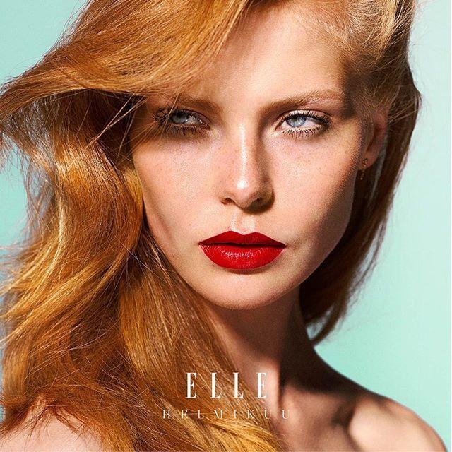 Maanantai  Arkilook voi olla näinkin glamour koska punainen huulipuna toimii A-I-N-A  #ellekauneus #ellehelmikuu  via ELLE FINLAND MAGAZINE OFFICIAL INSTAGRAM - Fashion Campaigns  Haute Couture  Advertising  Editorial Photography  Magazine Cover Designs  Supermodels  Runway Models